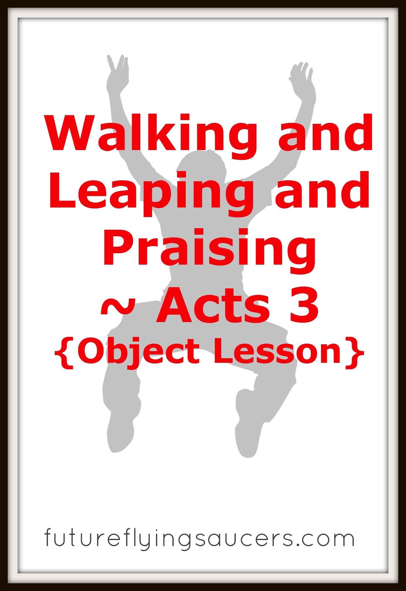 Peter John And A Lame Man Acts 3 Object Lesson