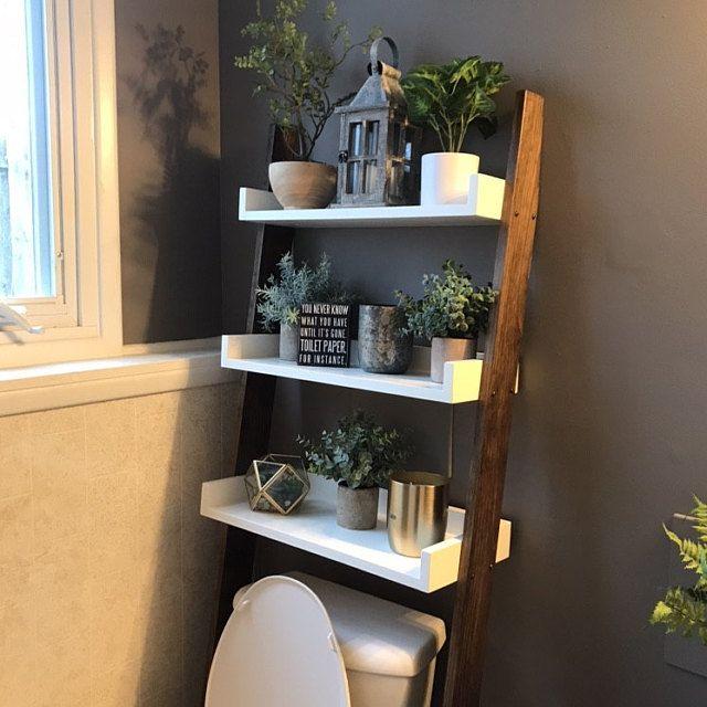 Over The Toilet Ladder Shelf In 2020