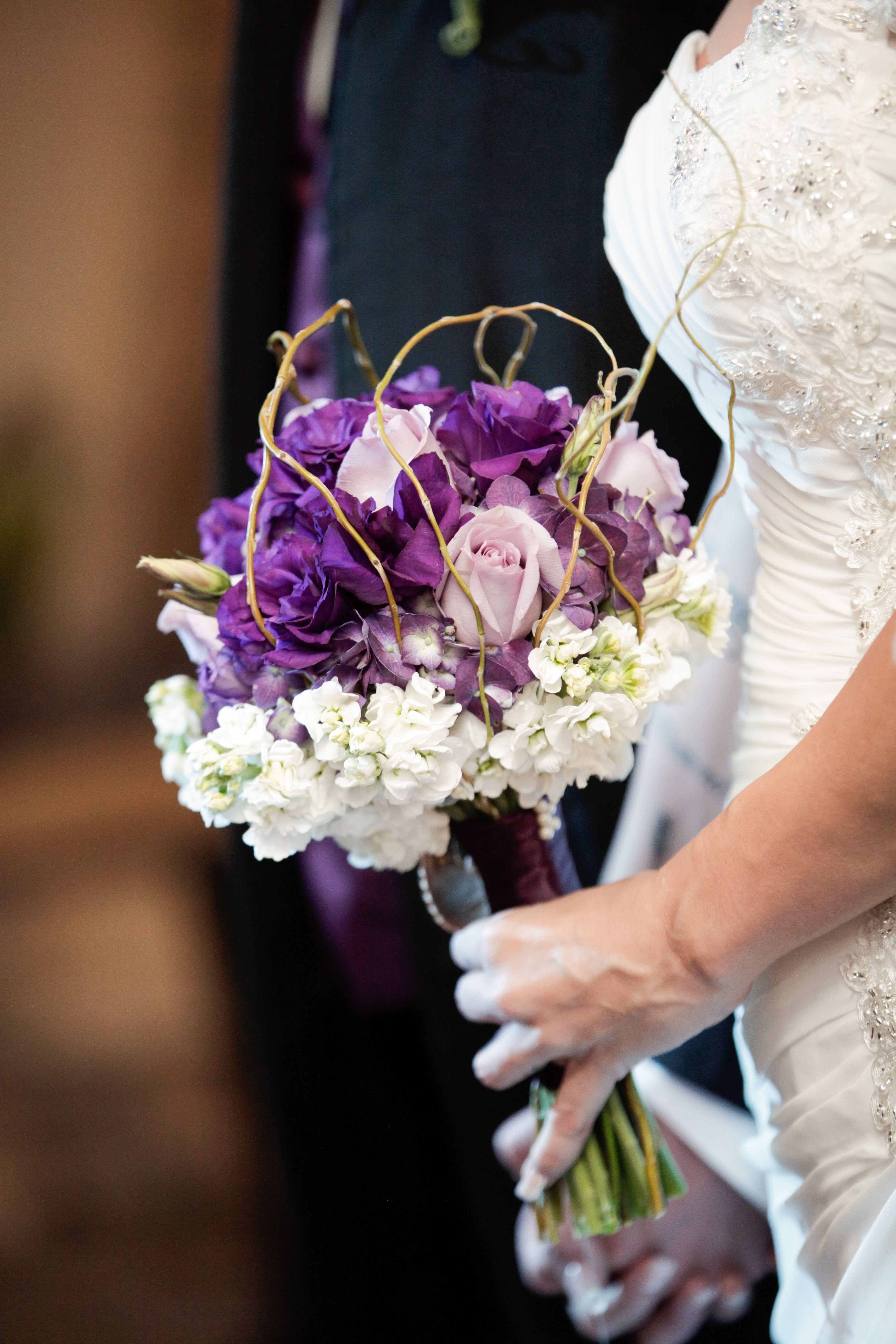 Rustic Purple Bridal Bouquet Wedding Flower Ideas Bridal Bouquet
