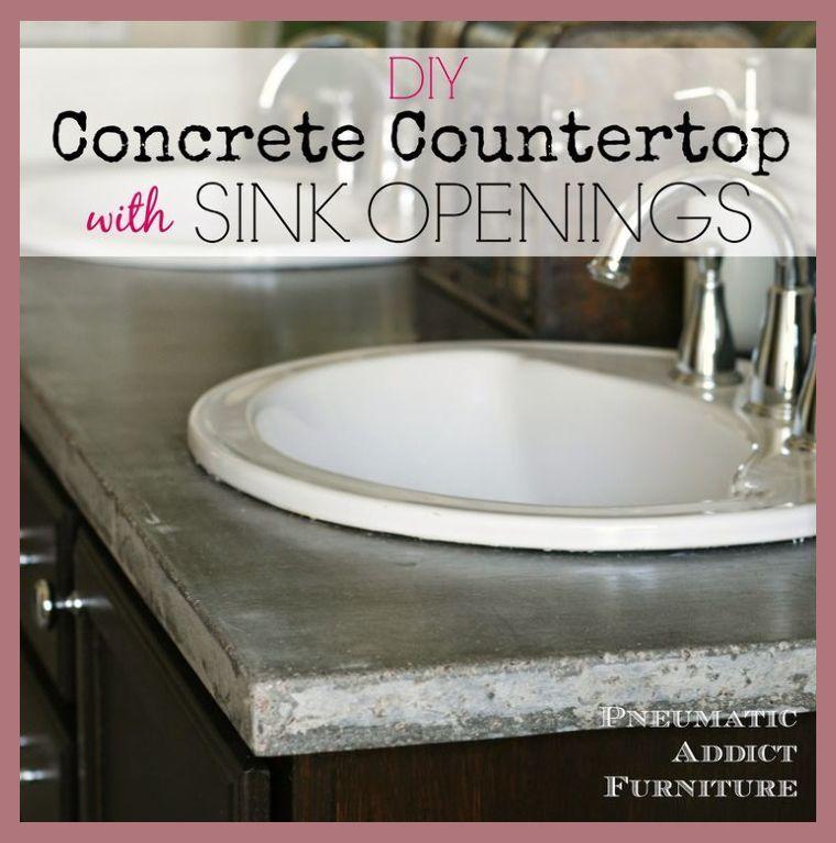 How To Choose Bathroom Countertops Diy Concrete Countertops