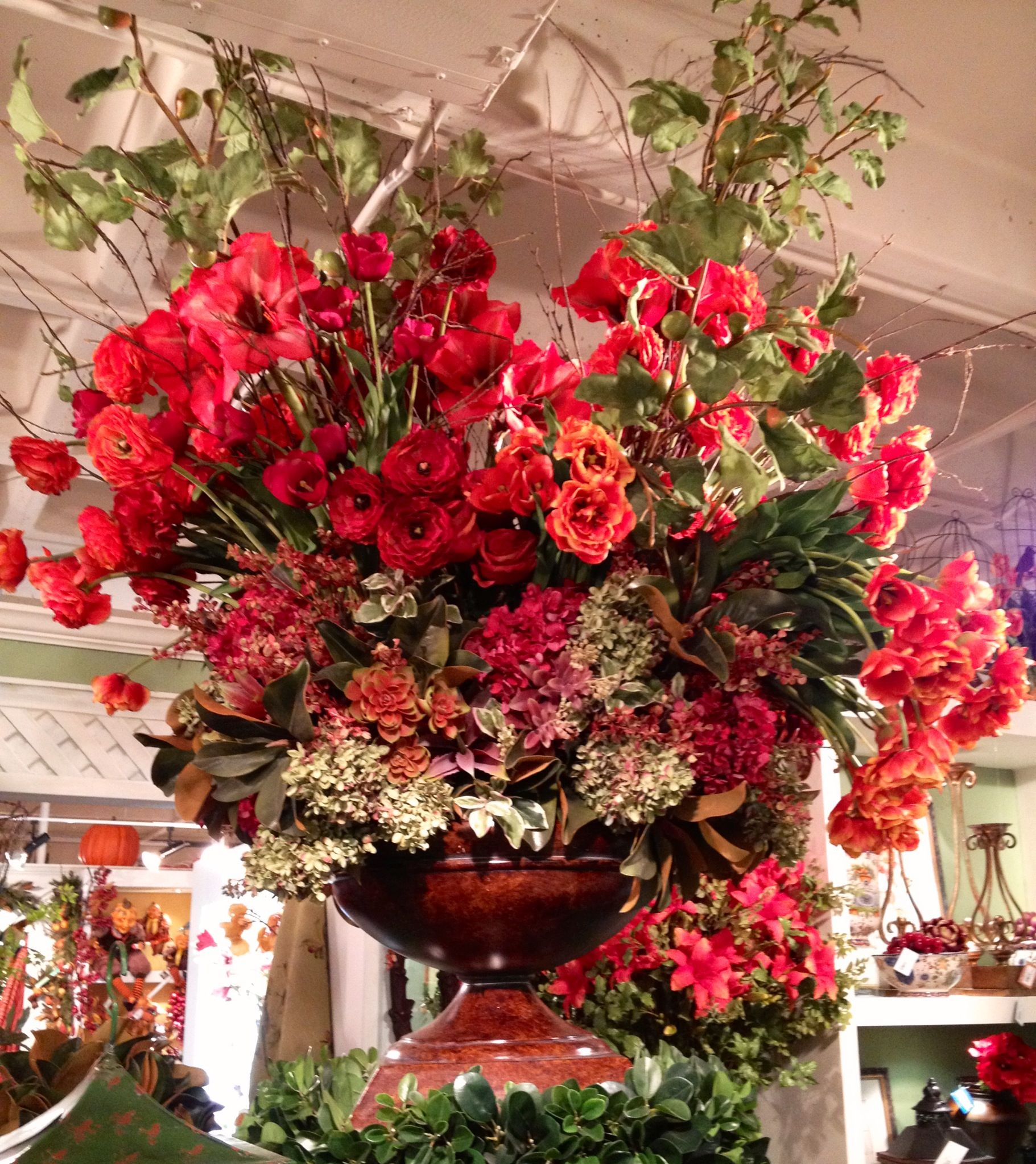 Beautiful Large Red Floral Arrangement