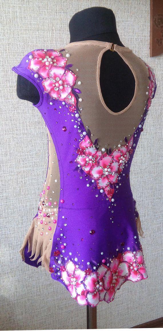 Violet  Leotard for rhythmic gymnastics