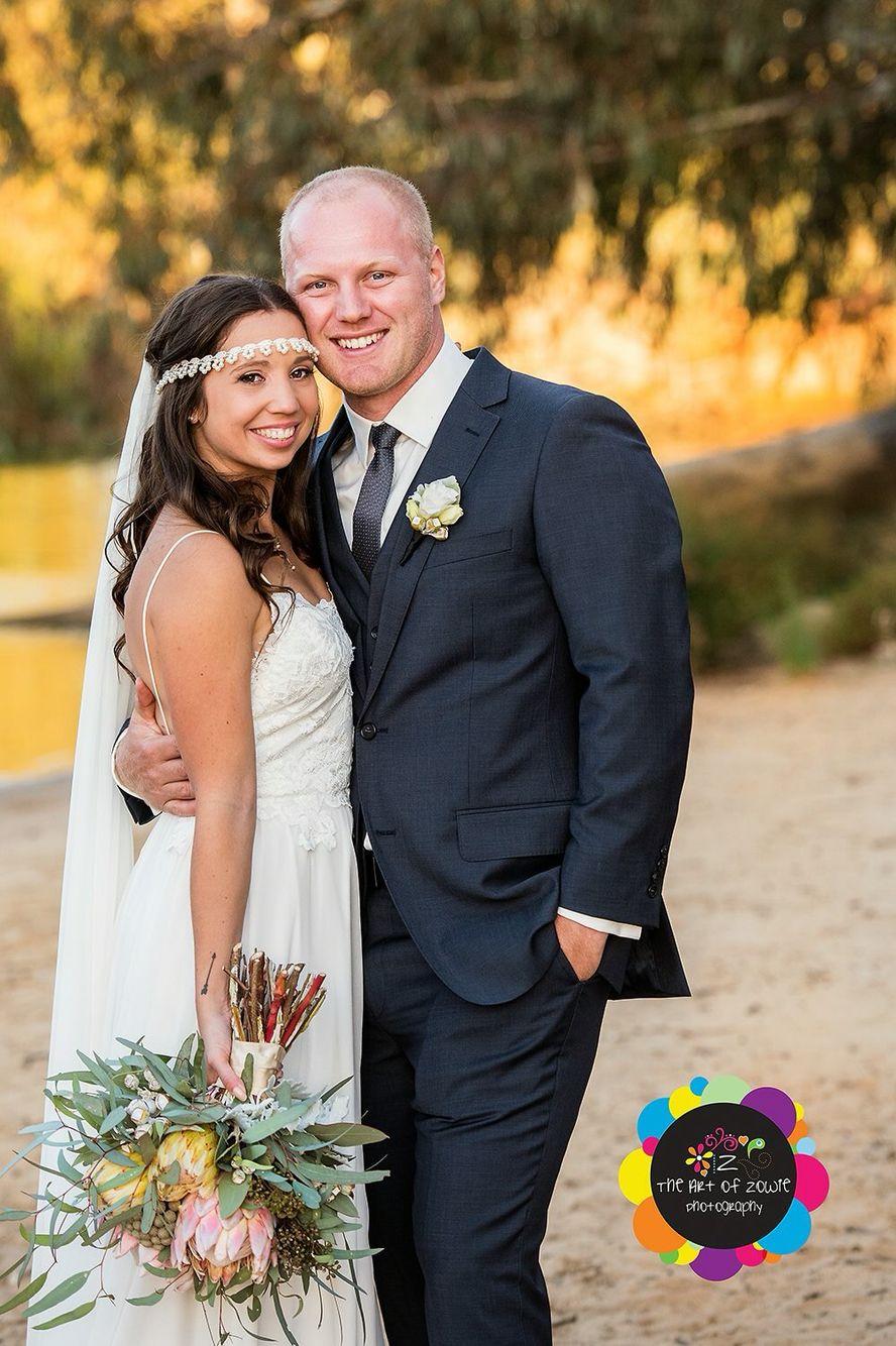 Our Wedding Day!!! #bohowedding #graceloveslace #murrayriver