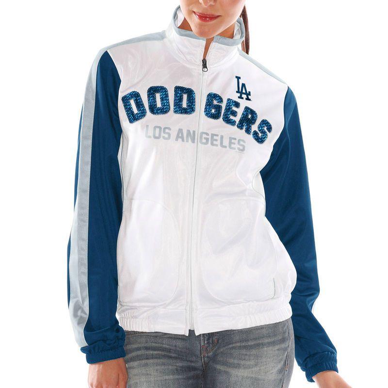 Los Angeles Dodgers Women's Sideline Track Jacket – White