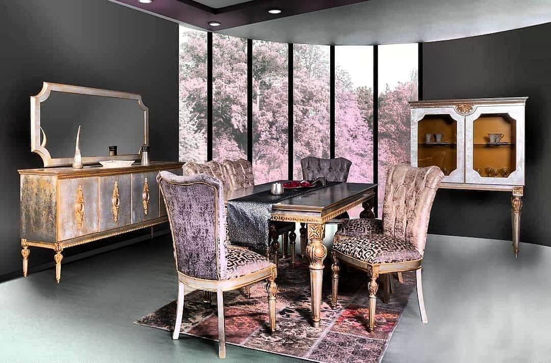 VENEDIK YEMEK ODASI  1 adet masa 6 adet sandalye 1 adet konsol 1 adet vitrin  Siparişleriniz için profil uzerinde whatsa...