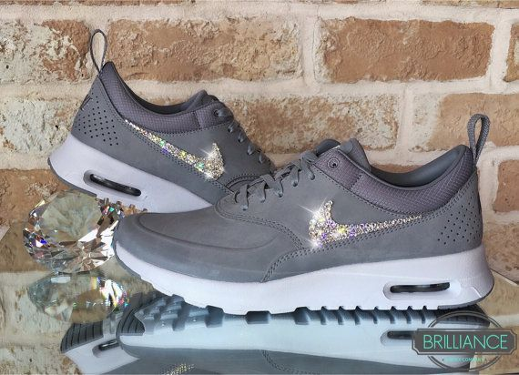 Swarovski Nike Air Max Thea Premium Running Shoes Blinged Out