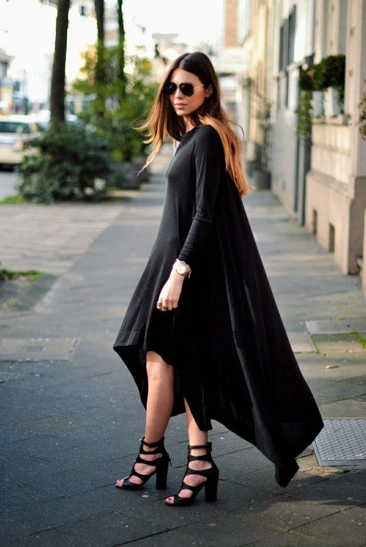 black stylish high heels pumps