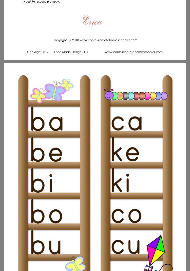 Blend Ladder Abeka 1st Abeka First Grade Phonics Phonics Blends [ 1068 x 750 Pixel ]