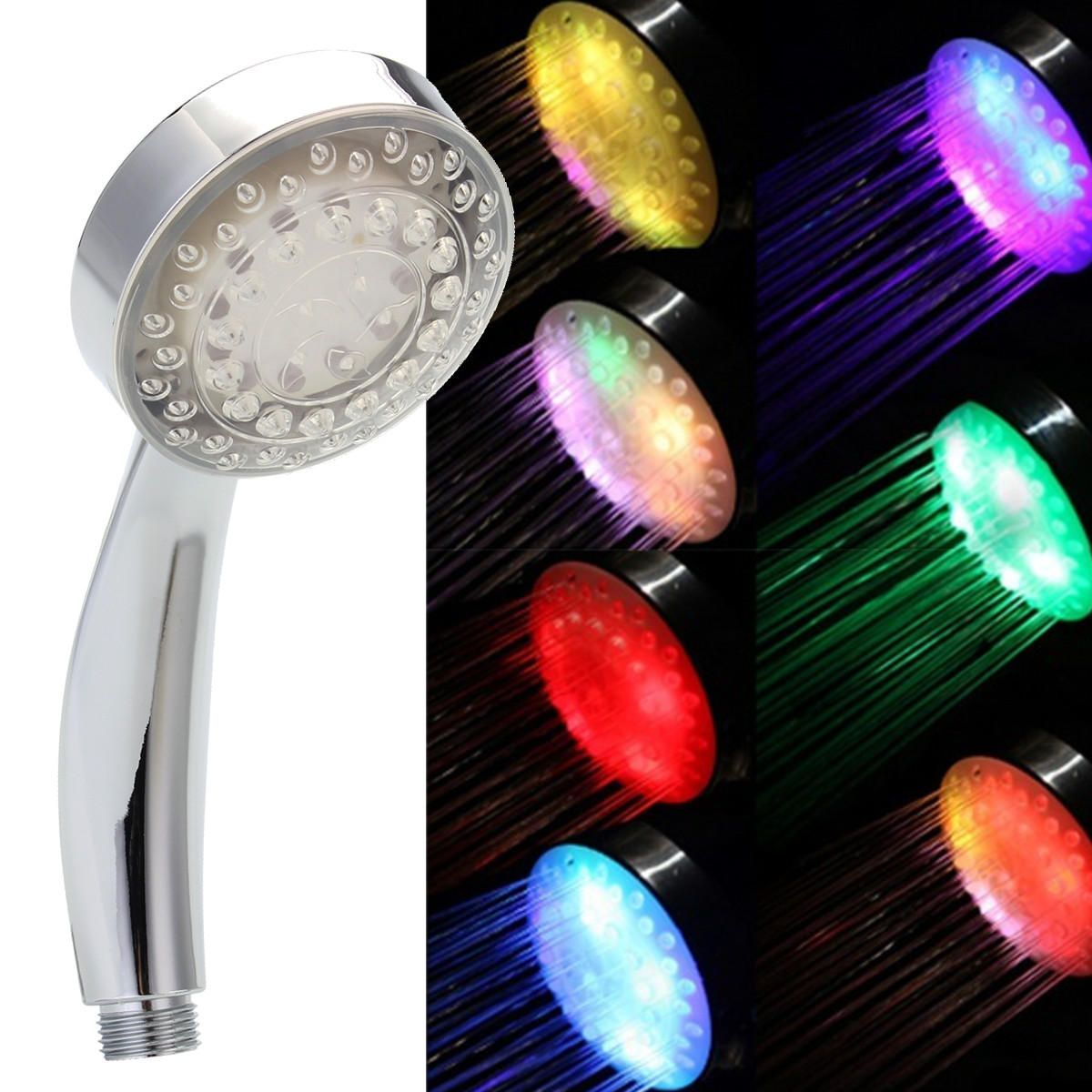 7 Colors Automatic Changing Led Shower Head Bathroom Shower Water Saving Spray Led Shower Head Shower Heads Water Saving Shower Head