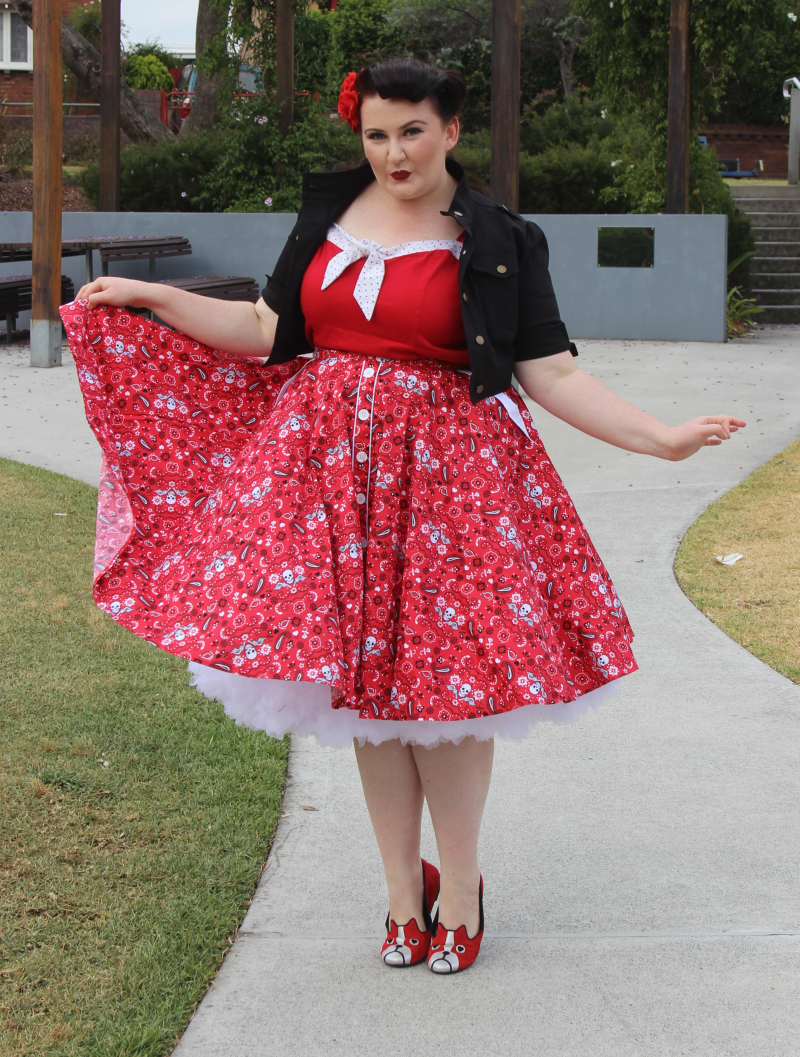 Vintage retro Cherry dress bolero Plus Size Model #Teer Wayde ...