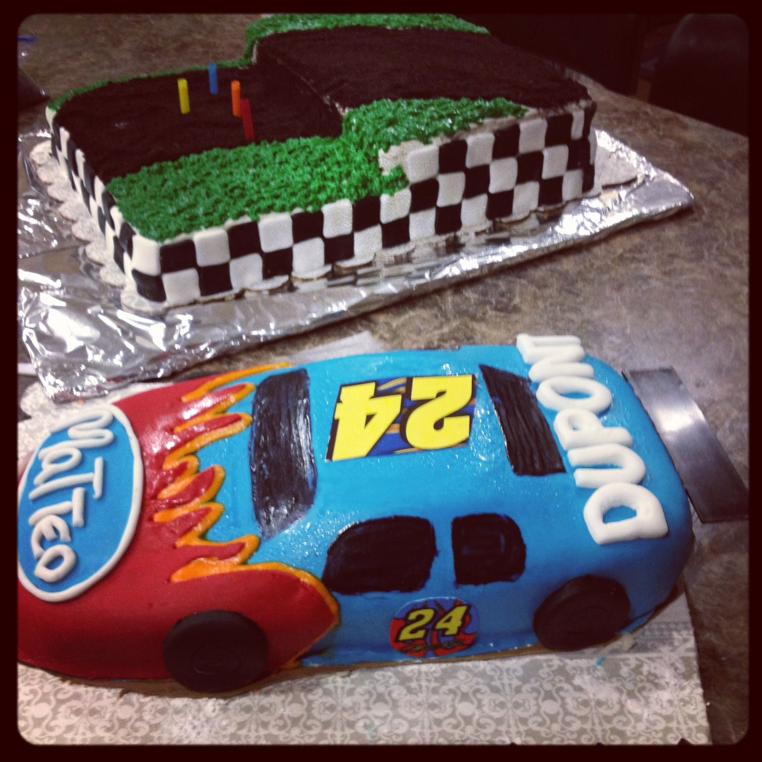 Nascar Cake Designs How To Carve A Nascar Cake
