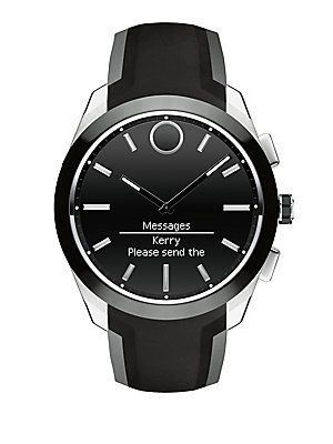 Movado Bold Connected II Stainless Steel Bracelet Watch - Black