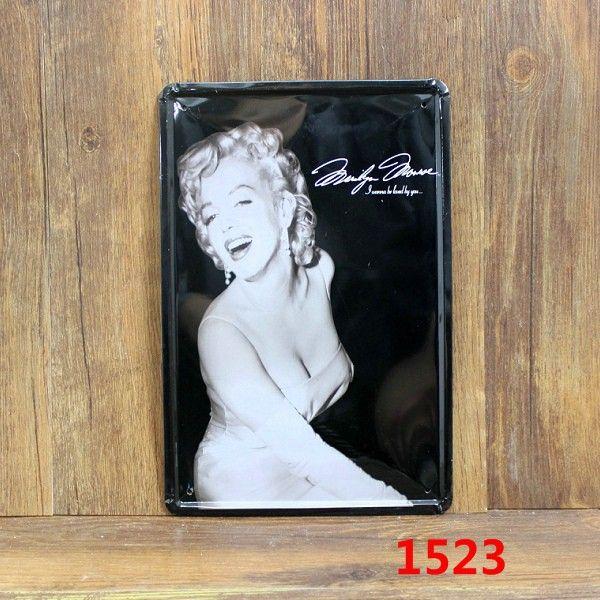 Marilyn Monroe Sexy Chic Home Bar Vintage Metal Signs Home Decor Vintage  Tin Signs Pub Vintage Decorative Plates Metal Wall Art