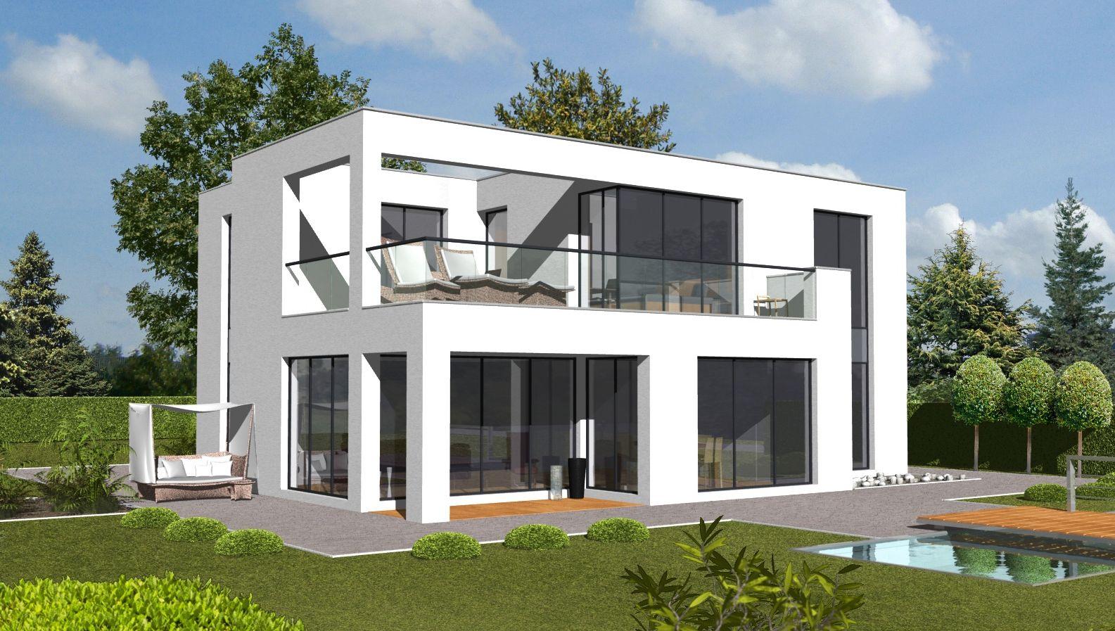 Bauhausarchitektur in absolut ruhiger lage von hh for Minimalistisches haus grundriss