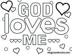 God Loves Me Craft For Kids Google Search Sunday School Coloring Pages School Coloring Pages Kindergarten Sunday School