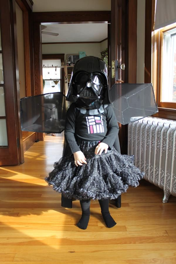 fairy princess darth vader with tie fighter wings cosplay. Black Bedroom Furniture Sets. Home Design Ideas