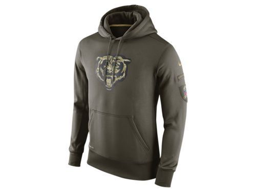 info for fa33c fd8e6 Chicago Bears Military Hoodies S M L XL 2X 3X 4X Salute ...
