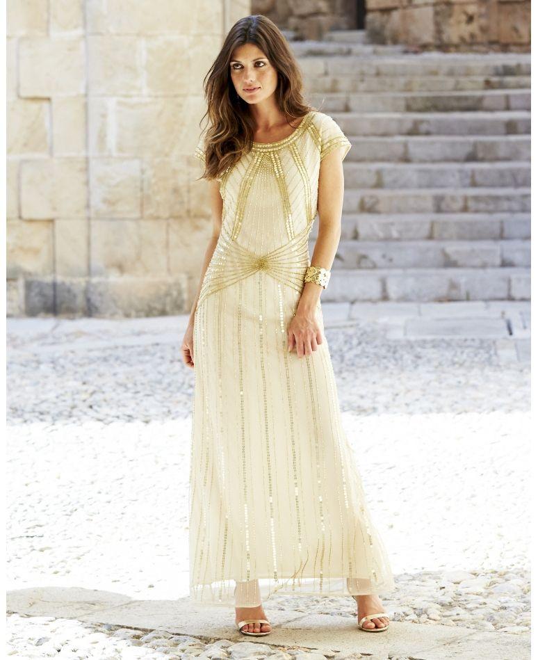Joanna Hope Beaded Maxi Dress 1920s Fashion Dresses Beaded Maxi Dress Maxi Dress