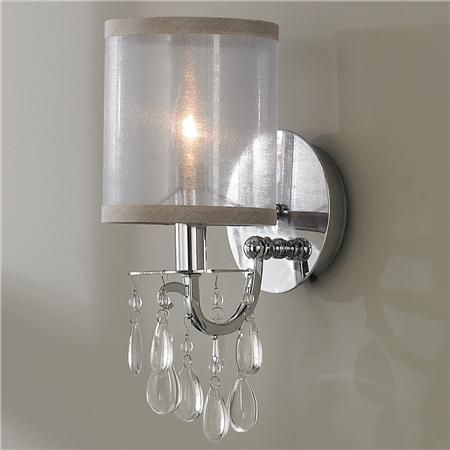 Modern glam crystal and sheer shade sconce sheer shades modern modern glam crystal and sheer shade sconce aloadofball Choice Image