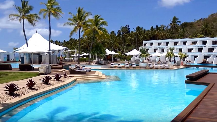 Resort Hayman Pool Cabanas One Hayman Island Australia