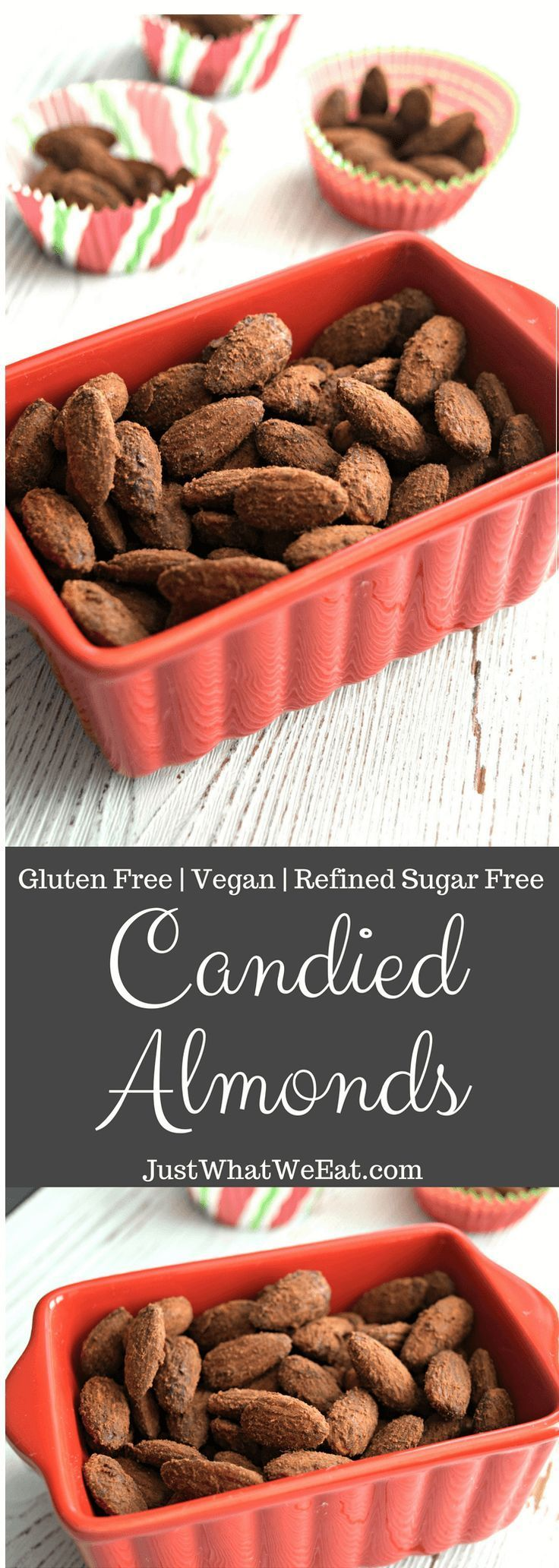 Candied almonds gluten free vegan refined sugar free