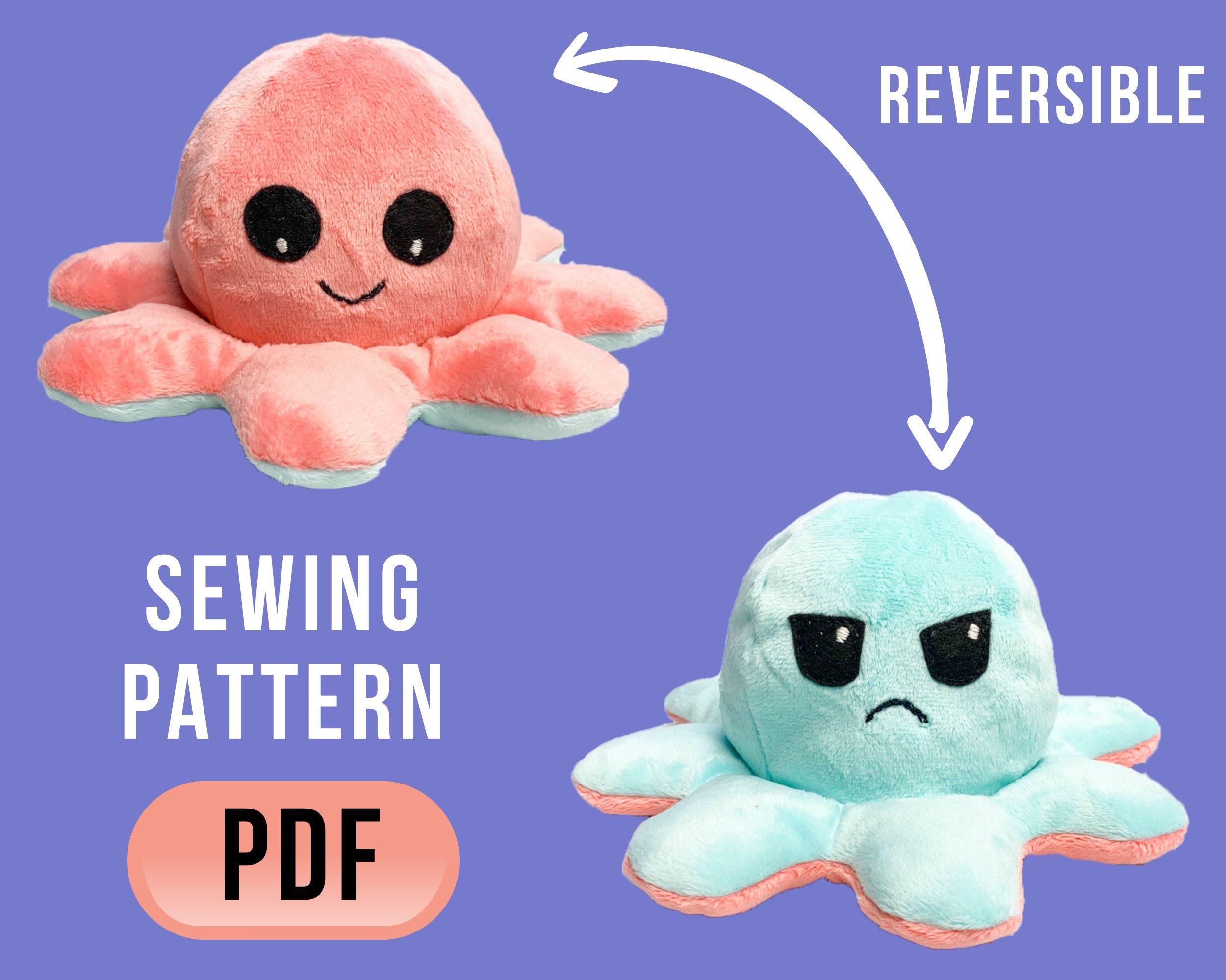 Animal Sewing Pattern Plush Octopus  Sewing Pattern Plush Octopus pdf Octopus Toy PDF DIY Sewing Pattern PDF Pattern Octopus Plush Toy