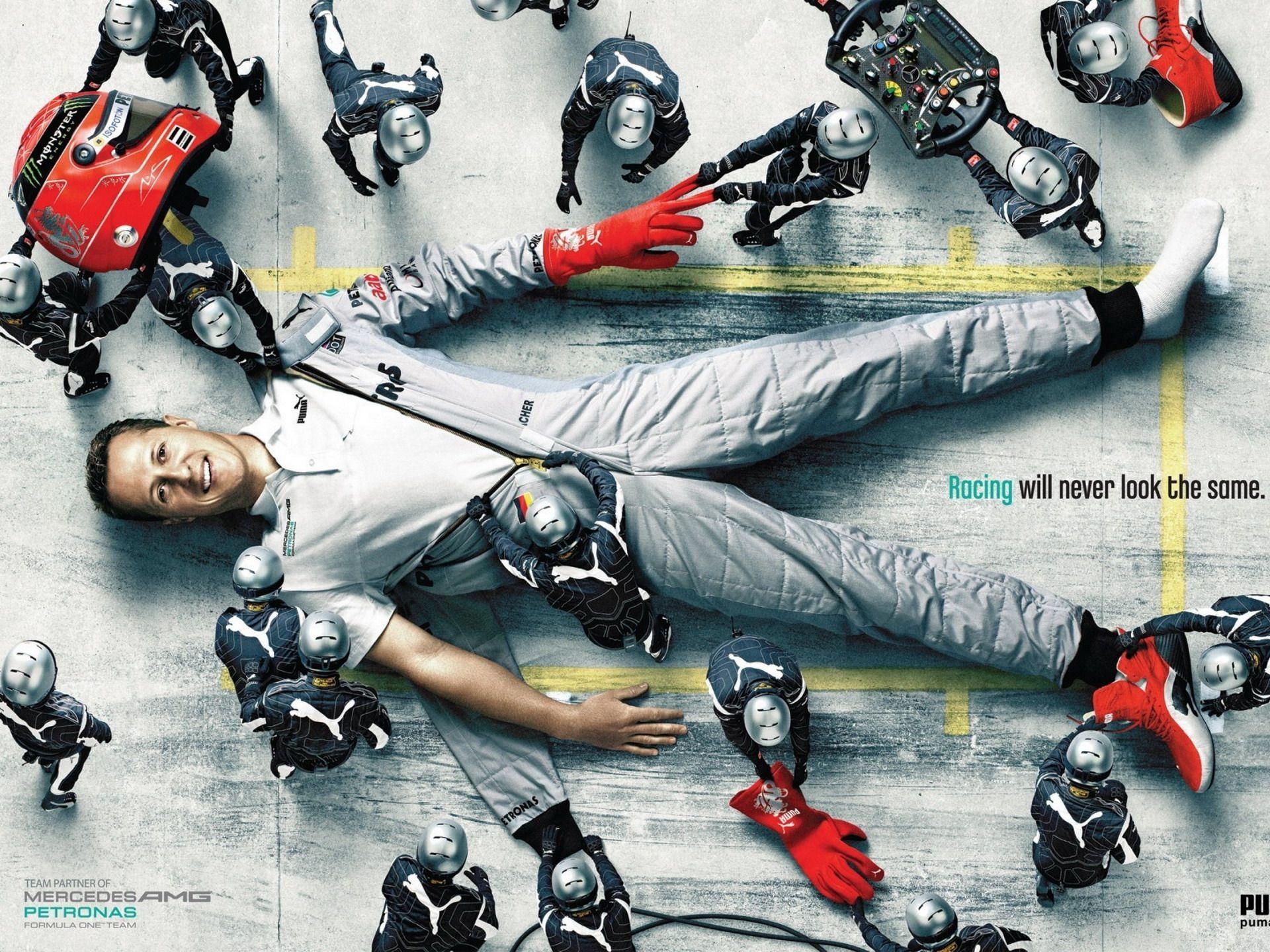 Publicidad de Puma para Mercedes GP, genial ...