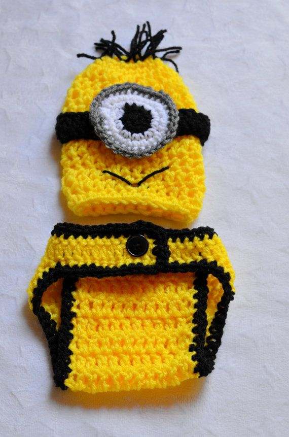 Despicable Me Minion Crochet Outfit. Newborn Halloween Costumes ...