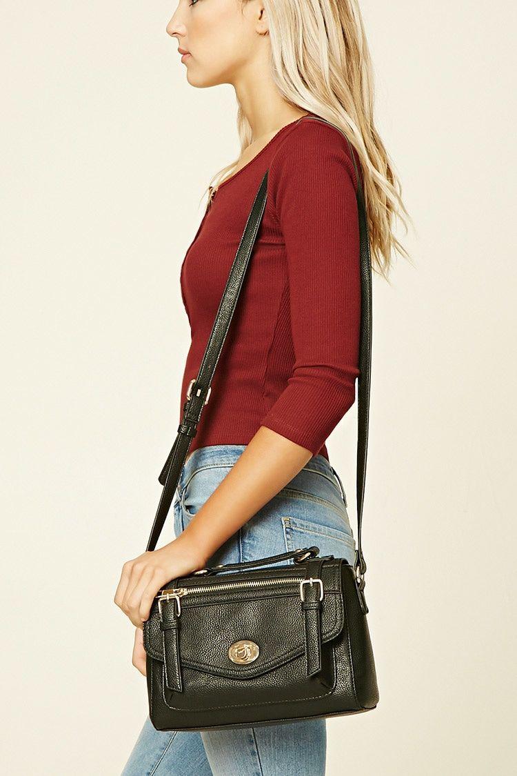 Faux Leather Shoulder Bag