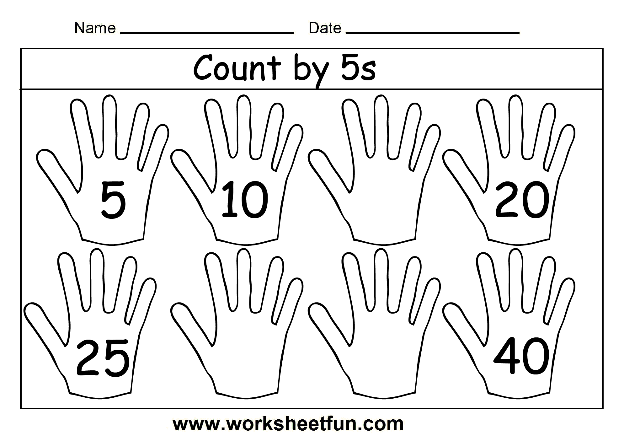Count By 5s 3 Worksheets Free Printable Worksheets