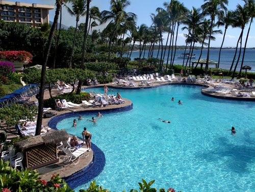 Pool At Hyatt Regency Maui Hotel On Kaanapali Beach From Jon S Info Www Mauihawaii Org