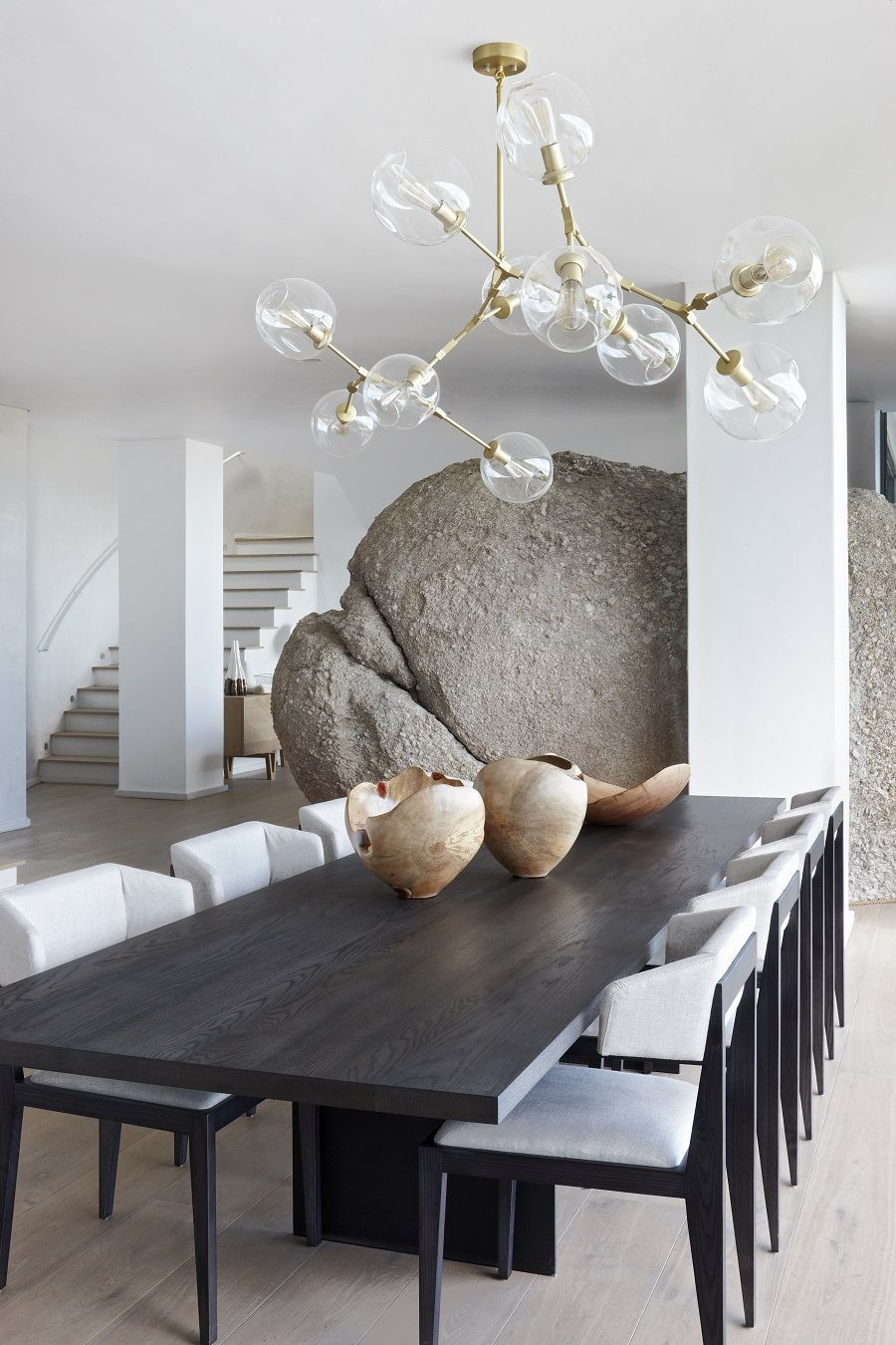Bomax Okha Design Luxurious South African House With Integrated Natural Feature Dining Room Contemporary Dining Room Interiors Transitional Dining Chairs African decor dining room