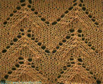 Knittingfool Stitch Gallery : Arches - Knittingfool Stitch Detail Knitting: Stitches Pinterest Lace, ...