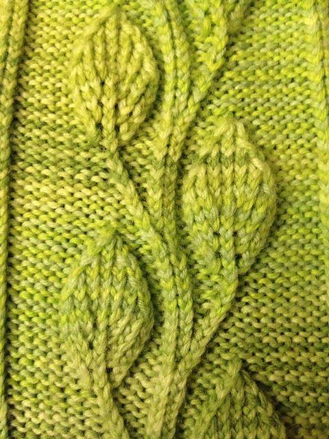 10 Free Leaf Knit Patterns Knitting Pinterest Knitting