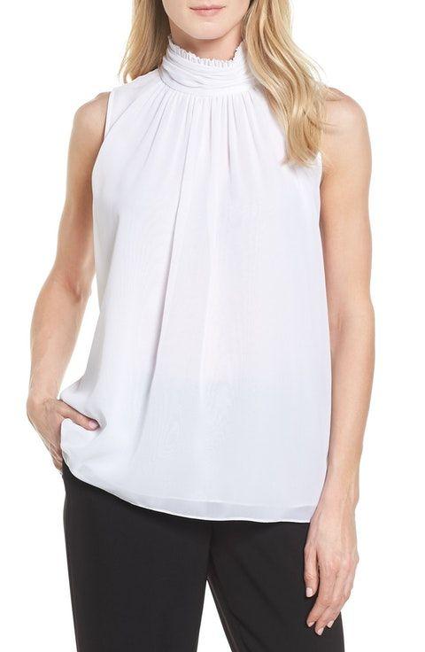 3c107a0f6b47c7 Ruffle Neck Blouse, Anniversary Sale, Business Women, Vince Camuto, Work  Wear,