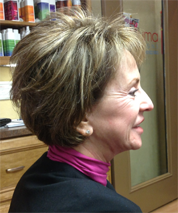 This hairstyle is full bodied and has a layered look that is easy to manage.
