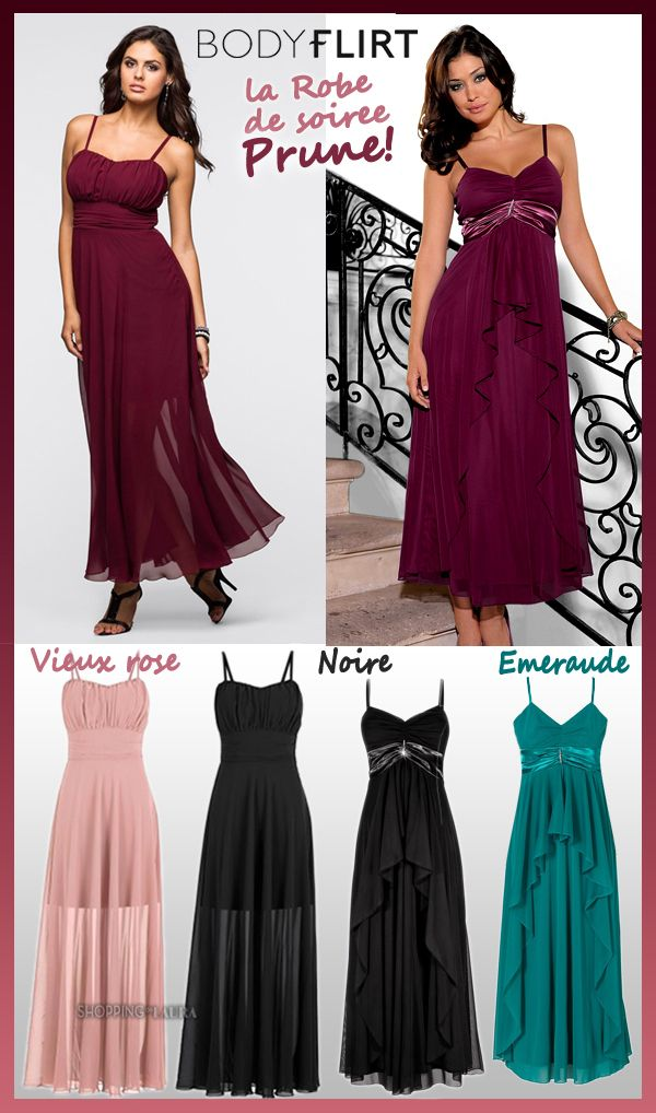Robe soiree couleur grenat