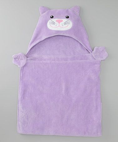 Take a look at this Pep & Doz Lavender Kitty Hooded Towel by Cats & Dogs Collection on #zulily today!