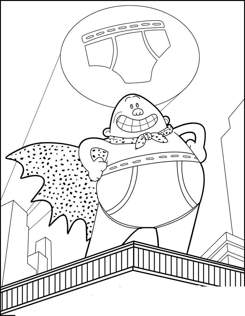 Captain Underpants Coloring Pages Best Coloring Pages For Kids Captain Underpants Coloring Pages For Kids Monster Coloring Pages