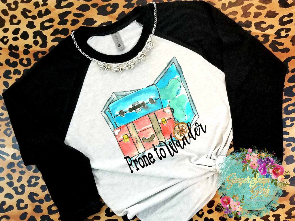 Prone To Wander Travel Wanderlust Sublimation Transfers