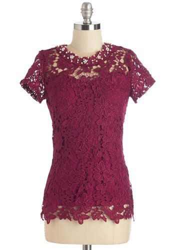 5bb174c808070 Graceful Air Top in Magenta. You exude the most feminine flair when you  wear this magenta top!  gold  prom  modcloth
