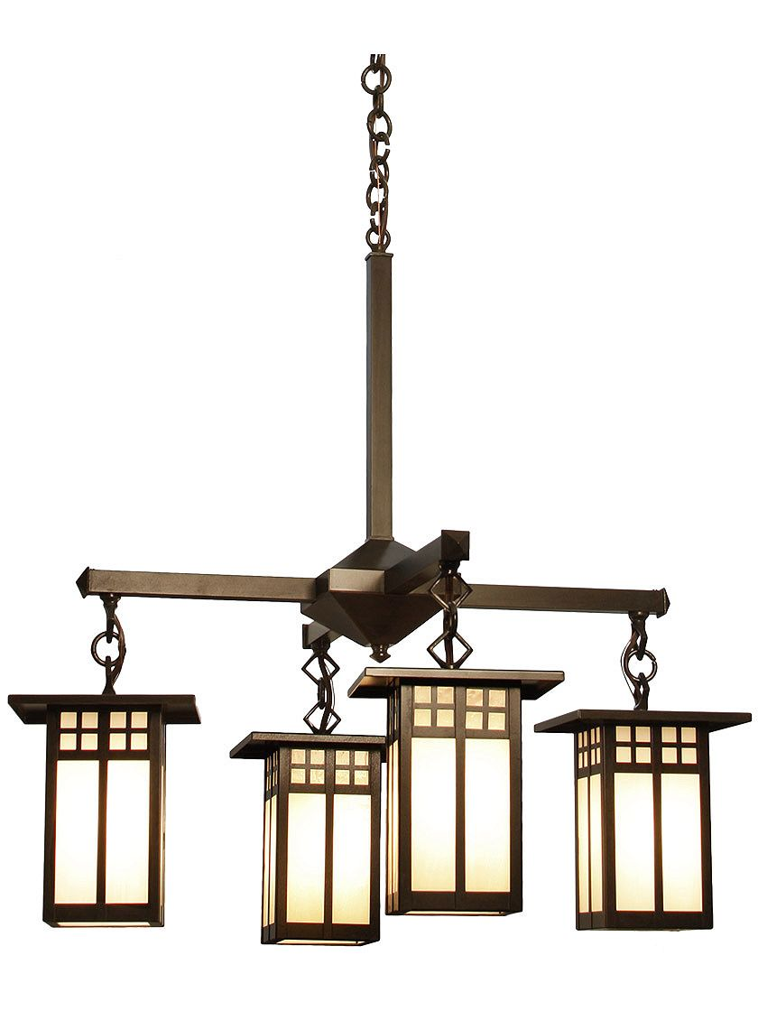 Glasgow 4 Light Chandelier In Bronze Finish House Of