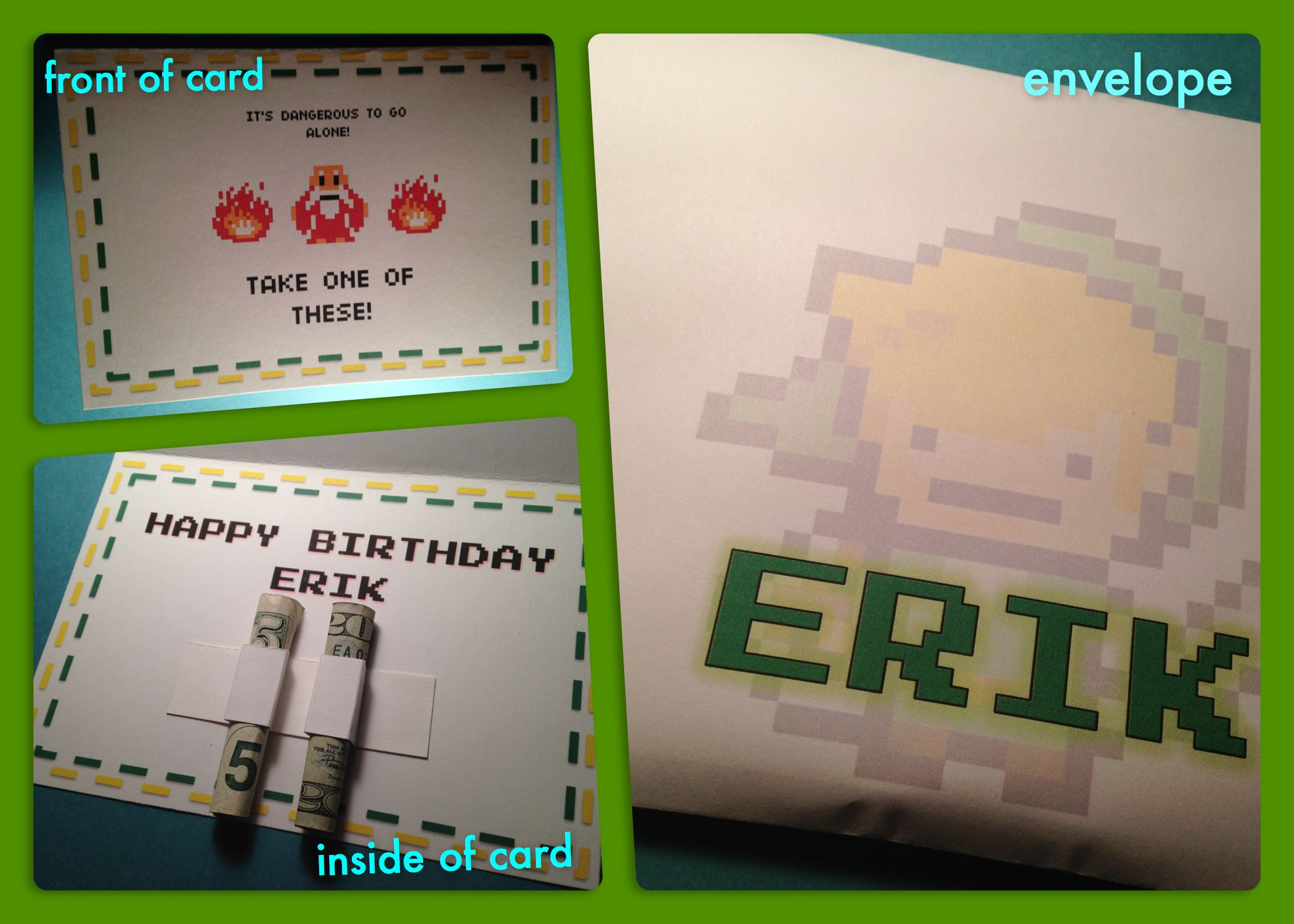 Legend Of Zelda Birthday Card Generated In Power Point Cards