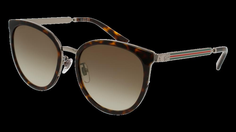 1c7931b82bd Gucci - GG0077SK-003 Avana Ruthenium Sunglasses   Brown Gradient Lenses