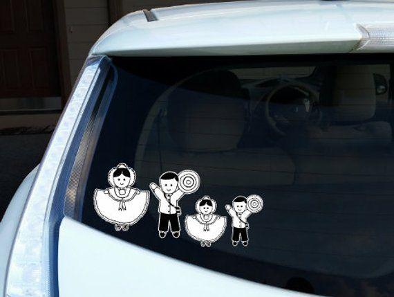 Panama Pollera – Family Decal – Car Stickers – Panamanian
