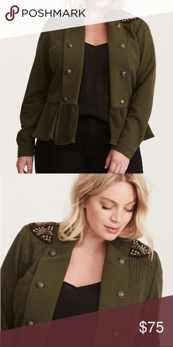 205eb757c6f NWT Embellished military jacket Torrid size 3 (Per their size chart ...