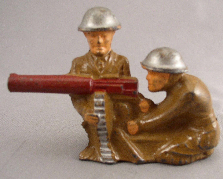 Manoil Barclay Lead SoldiersMachine Gunner and Helper