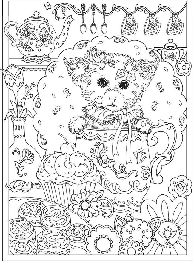 coloring pages be dazzled with these cute dog and five more handsome dogsfrom the coloring book creative haven dazzling dogs coloring book