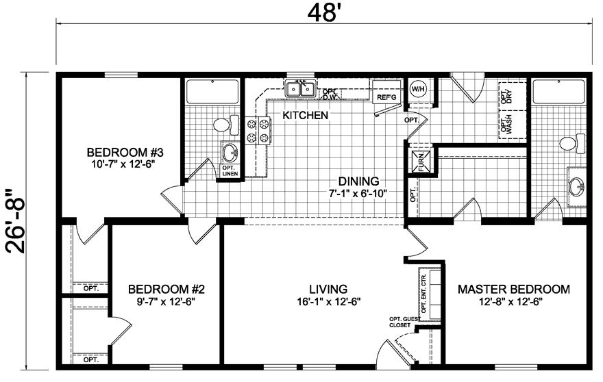 Image Result For Model Homes 27 X 48 Bedroom Floor Plans Floor Plans Model Homes