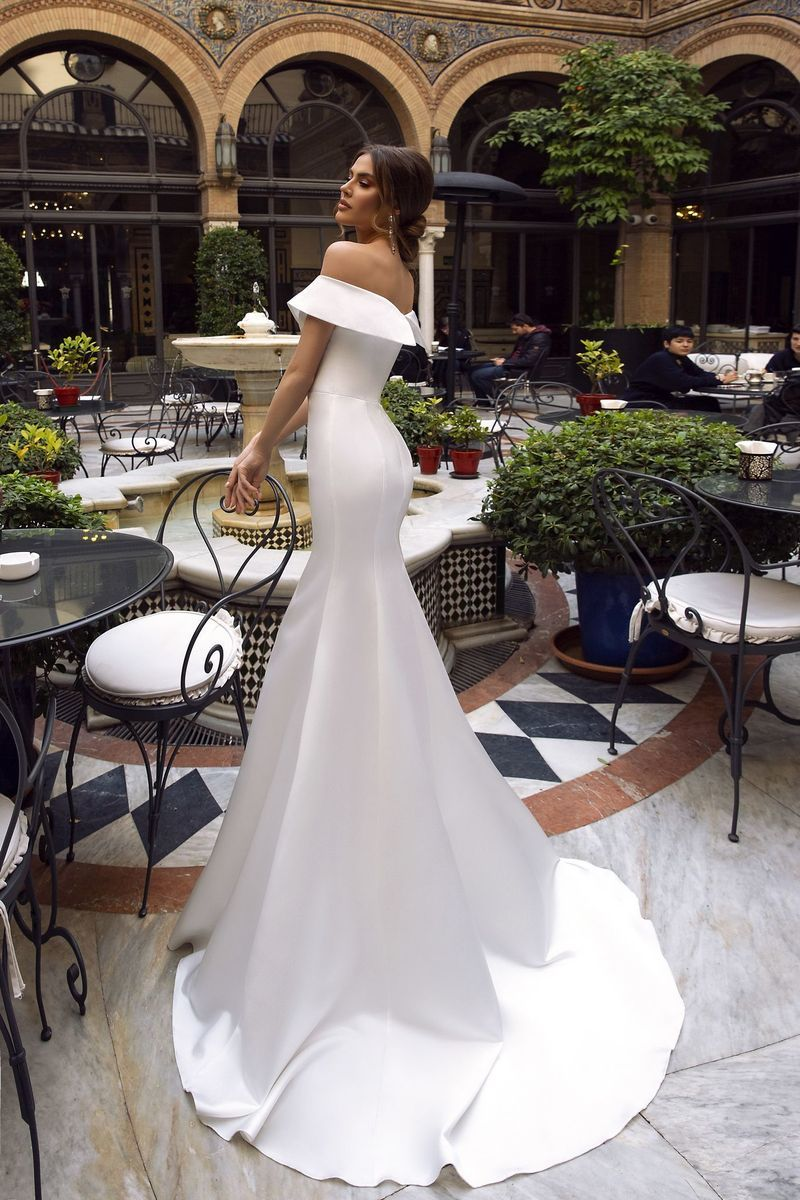 Cw191 Simple Satin Sweetheart Off The Shoulder Mermaid Wedding Dress Satin Mermaid Wedding Dress Off Shoulder Wedding Dress Dream Wedding Dress Lace [ 1200 x 800 Pixel ]